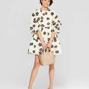 WHO WHAT WEAR Floral Long Sleeve Mini Dress